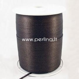 Satin ribbon, brown, 3 mm, 1 m
