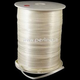 Satin ribbon, deep beige, 3 mm, 1 m