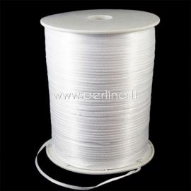 Satin ribbon, white, 3 mm, 1 m