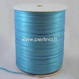Satin ribbon, deep sky blue, 3 mm, 1 m