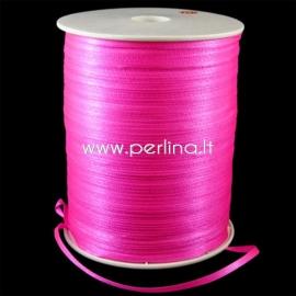 Satin ribbon, hot pink, 3 mm, 1 m