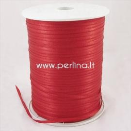 Satino juostelė, raudona, 3 mm, 1 m