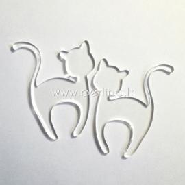 "Plexiglass finding ""Cat 1"", clear, 6x4,7 cm"