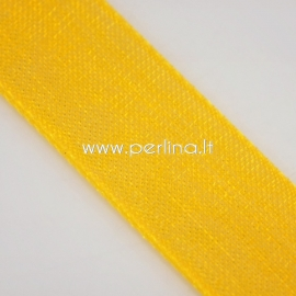 Organza ribbon, orange, 10 mm, 1 m