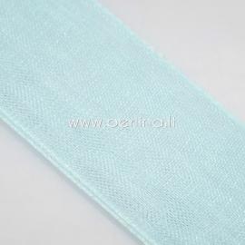 Organza ribbon, cyan, 20 mm, 1 m