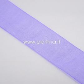 Organza ribbon, purple, 20 mm, 1 m