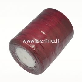 Organzos juostelė, tamsiai raudona sp., 20 mm, 1 m