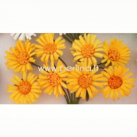 """Medžiaginės gėlytės """"Saulutės"""", geltonos sp., 8 vnt."""