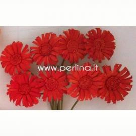 """Medžiaginės gėlytės """"Saulutės"""", raudona sp., 8 vnt."""