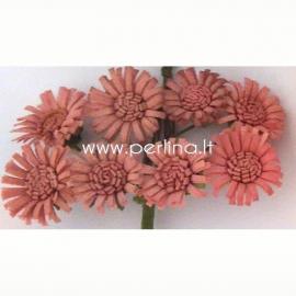 """Medžiaginės gėlytės """"Saulutės"""", blyški rožinė sp., 8 vnt."""