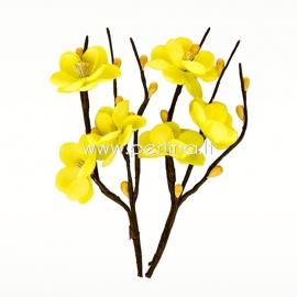 """Medžiaginės gėlytės """"Vyšnių žydėjimas"""", geltona sp., 2 vnt."""
