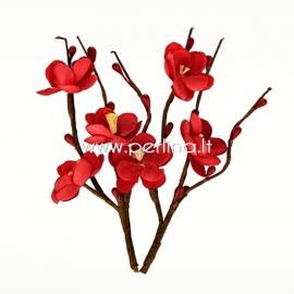 """Medžiaginės gėlytės """"Vyšnių žydėjimas"""", raudona sp., 2 vnt."""