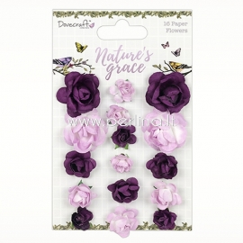 "Paper flowers ""Nature's Grace"", 12 pcs"