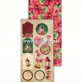 "Popierius ""Festive Bells 08"", 30,5x15 cm"
