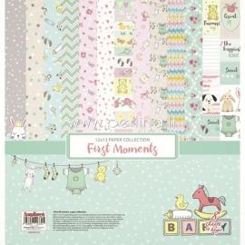 "Popieriaus rinkinys ""First Moments"", 30,5x30,5 cm, 8 vnt."