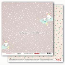 "Popierius ""Precious Memories - Snuggle Bunnies"", 30,5x30,5 cm"