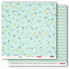 """Popierius """"Precious Memories - Baby Toys"""", 30,5x30,5 cm"""