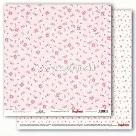 """Paper """"Precious Memories - Pink Petals"""", 30,5x30,5 cm"""