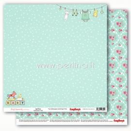 "Popierius ""Precious Memories - Sweet Green"", 30,5x30,5 cm"
