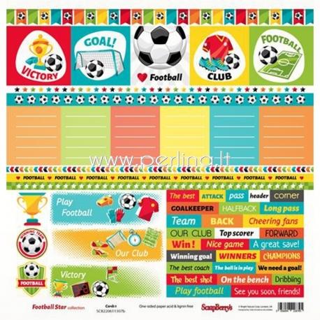 """Popierius """"Football Star - Cards 1"""", 30,5x30,5 cm"""