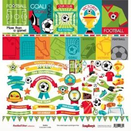 "Paper ""Football Star - Cards 2"", 30,5x30,5 cm"