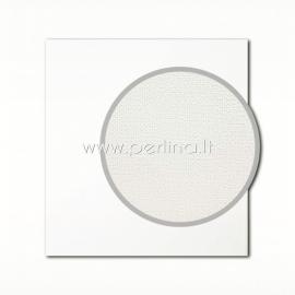 "Texture cardstock ""Canvas, White"", 30,5x30,5 cm, 280 gsm"