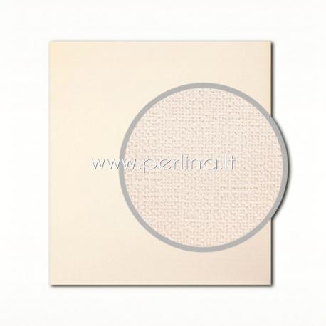 "Tekstūrinis kartonas ""Canvas, Cream"", 30,5x30,5 cm, 280 gsm"