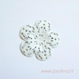 Ažūrinė plokštelė, baltos sp., 36 mm