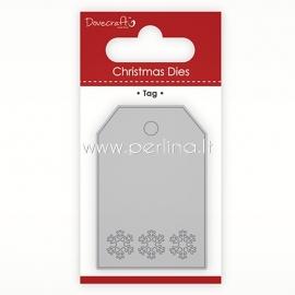 """Die cut stencil """"Christmas Dies - Tag"""", 6.4cm x 4.3cm"""