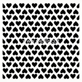 "Plastikinis trafaretas ""Stencil Hearts pattern"", 15,2x15,2 cm, 1 vnt."