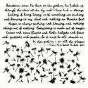 "Plastikinis trafaretas ""Dandelions - Until Dawn"", 15x15 cm."