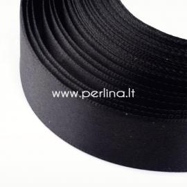 Satino juostelė, juoda, 50 mm, 22,86 m