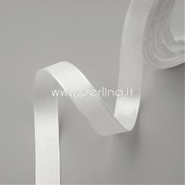 Satino juostelė, balta, 20 mm, 1 m