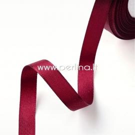 Satin ribbon, burgundy, 20 mm, 1 m