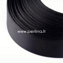 Satino juostelė, juoda, 20 mm, 22,86 m