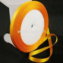 Satino juostelė, šviesi oranžinė, 12 mm, 1 m