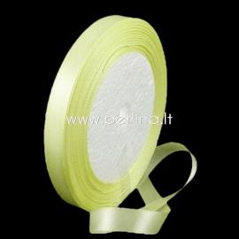 Satin ribbon, light yellow, 10 mm, 1 m