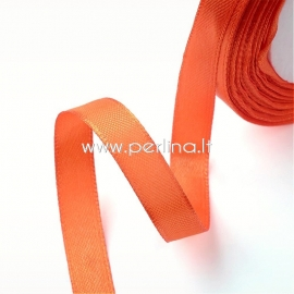 Satin ribbon, orange, 10 mm, 1 m