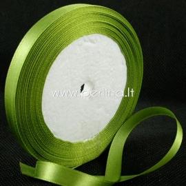 Satin ribbon, olive, 10 mm, 1 m