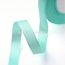 Satin ribbon, cyan, 10 mm, 1 m