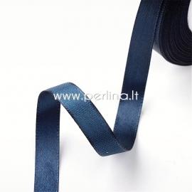 Satin ribbon, dark blue, 10 mm, 1 m
