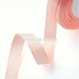 Satin ribbon, peachy, 10 mm, 1 m