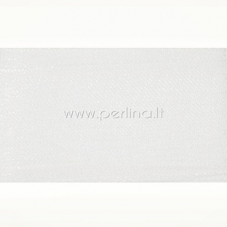 Organzos juostelė, balta sp., 50 mm, 1 m