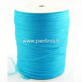 Organza ribbon, dark turquoise, 3 mm, 1 m