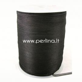 Organza ribbon, black, 3 mm, 1 m