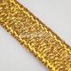 """Satino juostelė """"Peru"""", blizganti antikinio aukso sp., 6 mm, 1 m"""