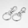 Swivel clasps with key rings, platinum, 36x15x5mm