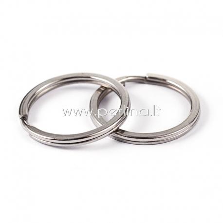 Raktų žiedas, nerūdijantis plienas, 25x2mm
