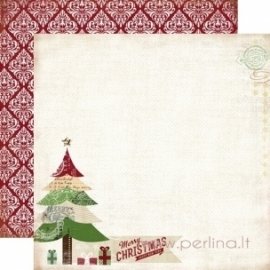 """Popierius """"Merry Christmas"""", 30,5x30,5 cm"""