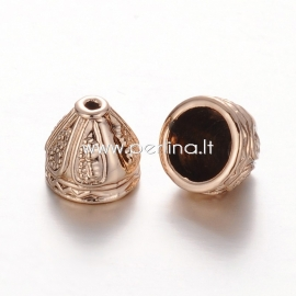 Bead cone, unfading golden tone, 8x9 mm, 1 pc
